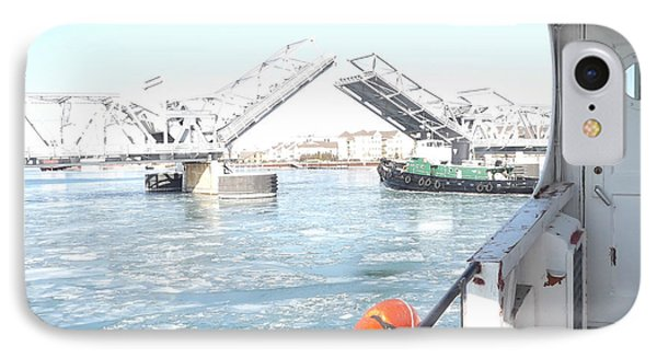 Sturgeon Bay's Working Harbor IPhone Case