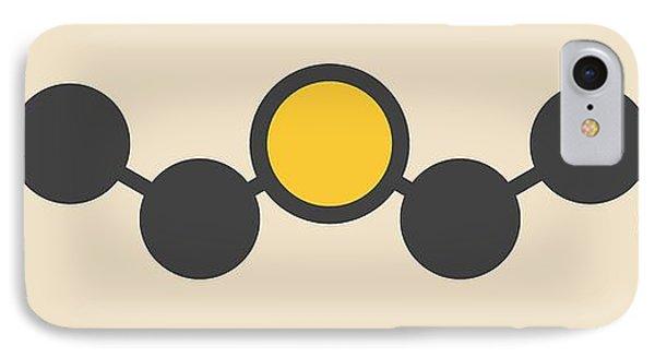 Mustard iPhone 8 Case - Sulfur Mustard Molecule by Molekuul
