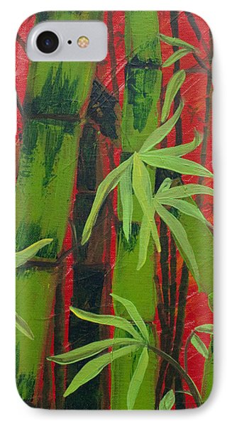 Sultry Bamboo Forest Acrylic Painting IPhone Case