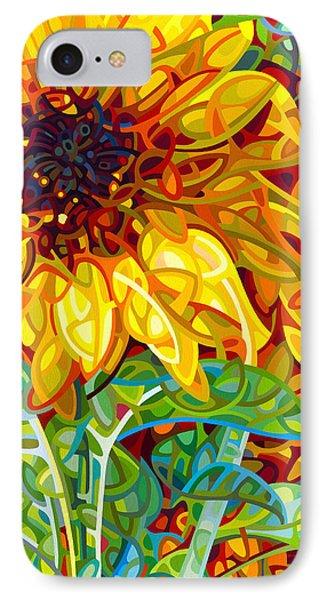 Sunflower iPhone 8 Case - Summer In The Garden by Mandy Budan
