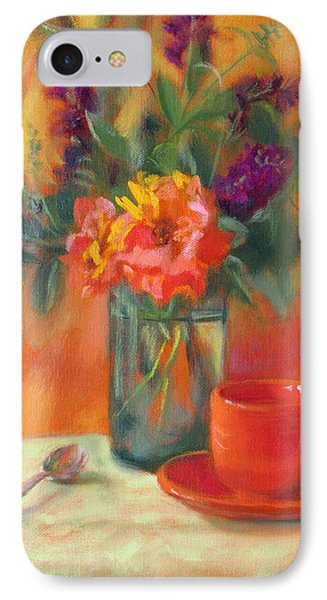 Summer Song- Orange Roses And Butterfly Bush Blooms IPhone Case