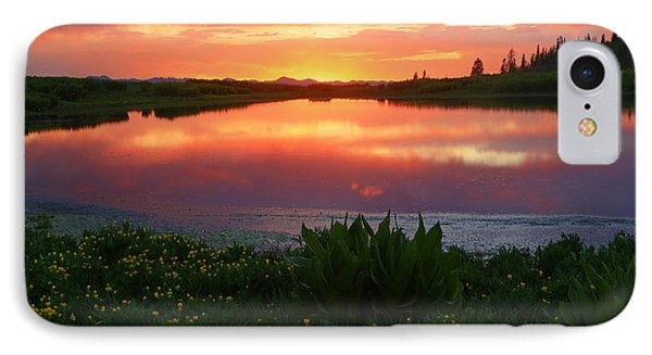 Summer Sunset Above Lake Creek. IPhone Case