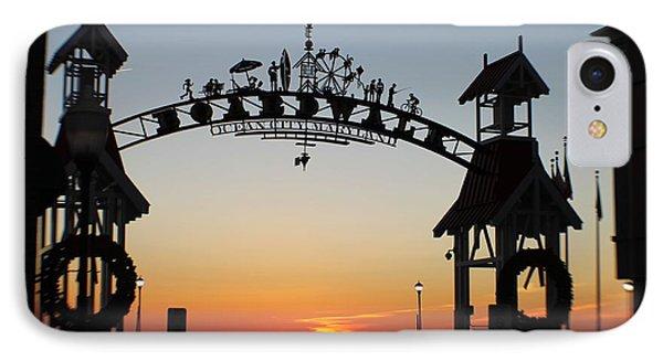 Sun Reflecting On Clouds Ocean City Boardwalk Arch IPhone Case