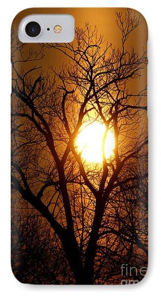 Sun Rise Sun Pillar Silhouette IPhone Case