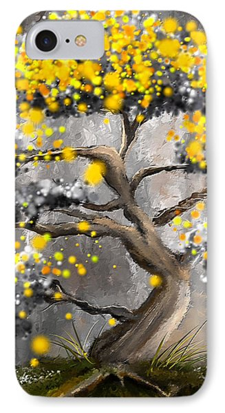 Sun Showers - Yellow And Gray Art IPhone Case