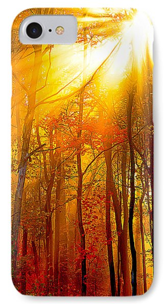 Sunburst In The Forest IPhone Case