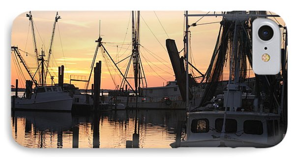 Sundown At Marshallberg Harbor IPhone Case