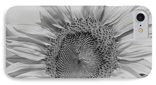 Sunflower Black And White IPhone Case