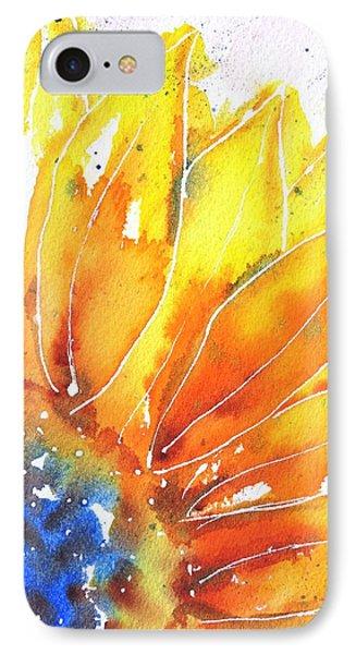 Sunflower Blue Orange And Yellow IPhone Case