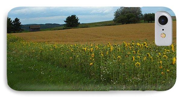 Sunflower Border IPhone Case