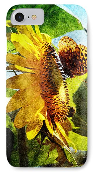 Sunflower Butterfly And Bee IPhone Case