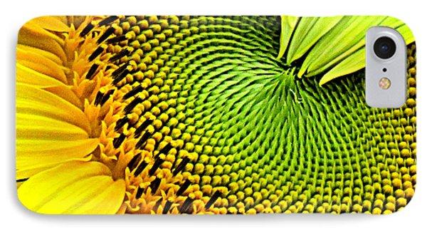 Sunflower Kaleidescope IPhone Case