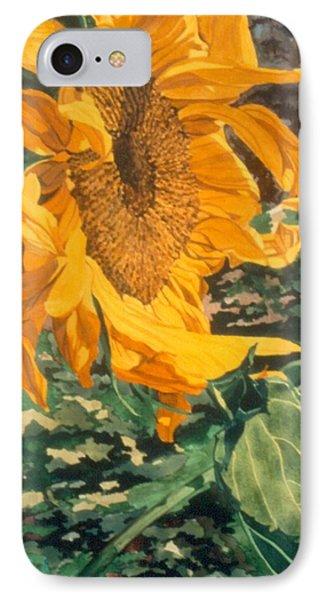 Sunflower Watercolor Painting Beautiful Flowers Sun Flower Garden Art Floral Artist K. Joann Russell IPhone Case