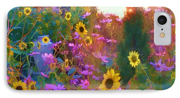 Sunflowers And Cosmos IPhone Case