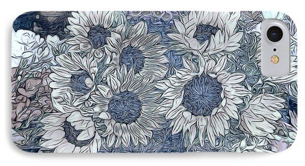 Sunflowers Paris IPhone Case