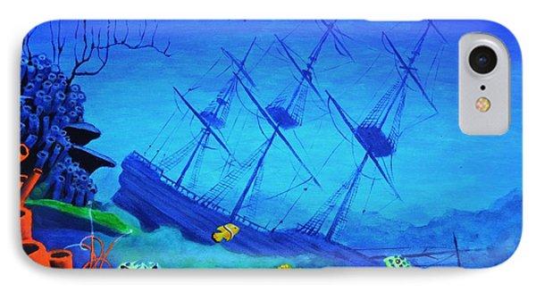 Sunken Gold Ship IPhone Case