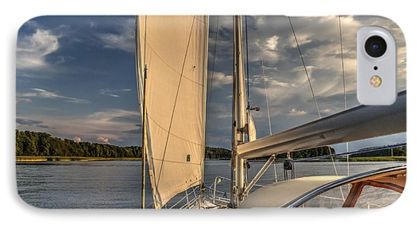 Sunny Afternoon Inland Sailing In Poland IPhone Case