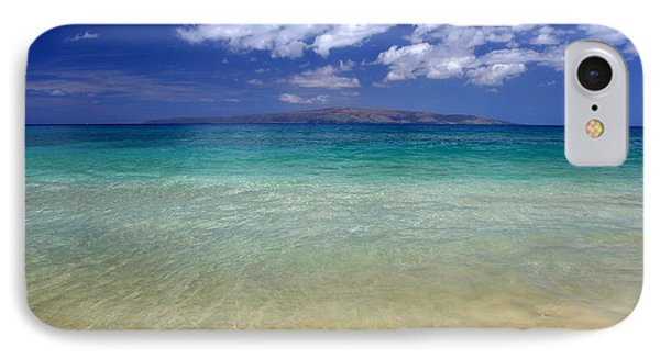 Sunny Blue Beach Makena Maui Hawaii IPhone Case
