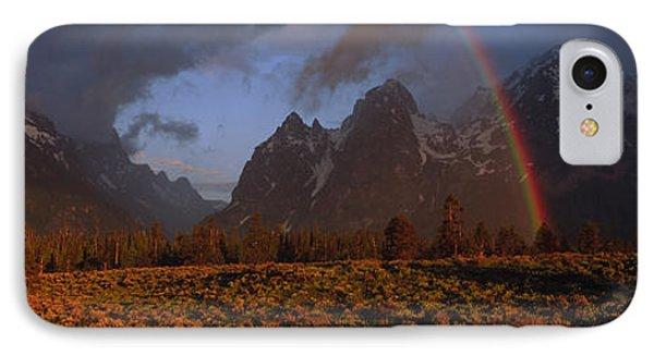Sunrise & Rainbow Grand Teton National IPhone Case