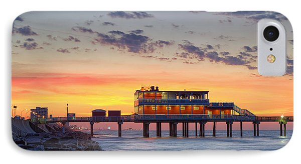 Sunrise At The Pier - Galveston Texas Gulf Coast IPhone Case