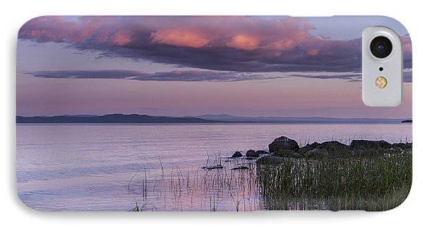 Sunrise Lake Champlain Shore Vermont Clouds IPhone Case