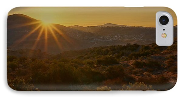 Sunrise Mission Trails San Diego  IPhone Case