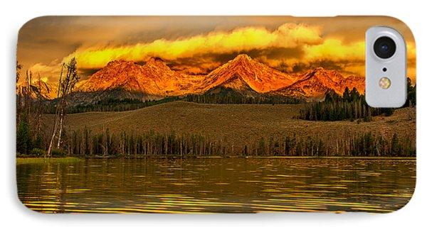 Sunrise On Little Redfish Lake IPhone Case