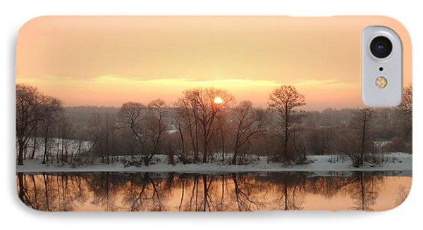 Sunrise On The Ema River IPhone Case