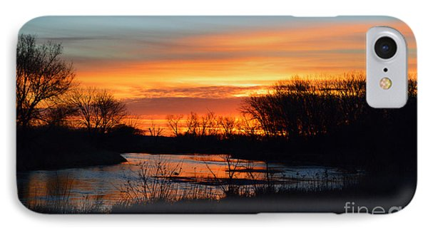 Sunrise On The River IPhone Case