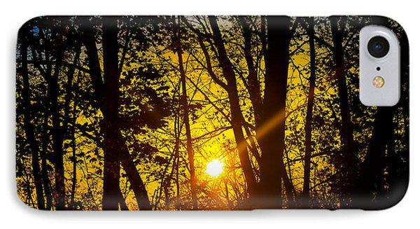 Sunrise With Blue - Horizontal IPhone Case