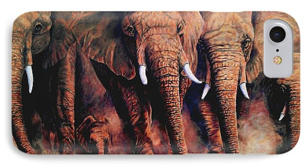 Sunset African Giants IPhone Case
