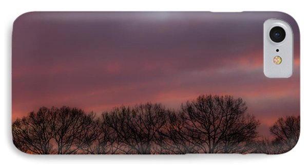 Sunset And Trees IPhone Case