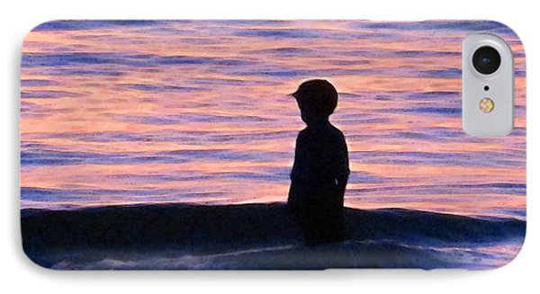 Sunset Art - Contemplation IPhone Case
