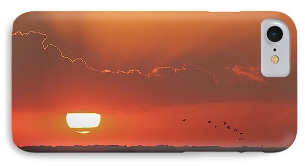 Sunset At Cheyenne Bottoms IPhone Case