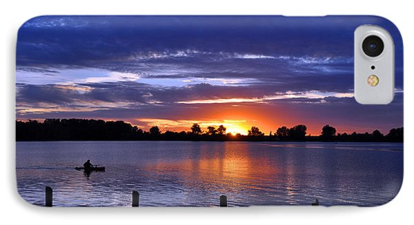 Sunset At Creve Coeur Park IPhone Case