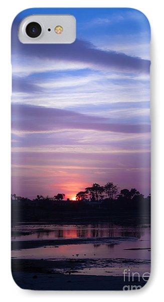 Sunset At Malibu Beach Lagoon Estuary Fine Art Photograph Print IPhone Case