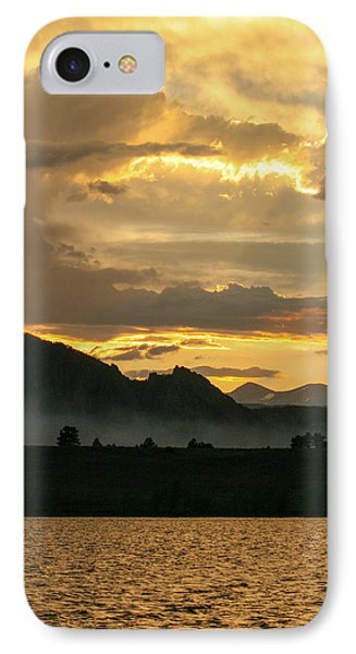 Smokey Sunset At Marshall Lake IPhone Case