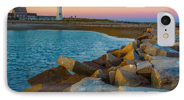 Sunset At Old Scituate Lighthouse IPhone Case