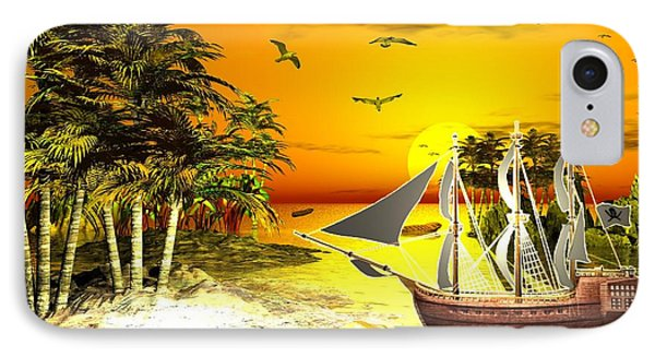 Sunset At Pirates Cove IPhone Case