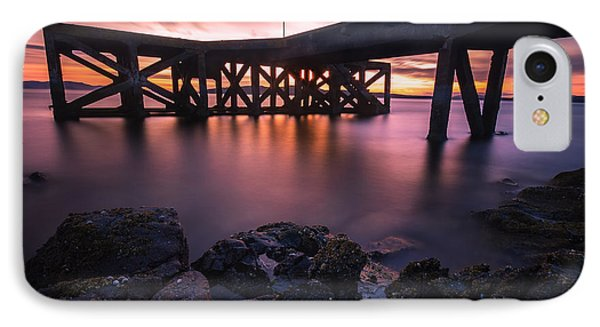 Sunset At Portencross Jetty IPhone Case