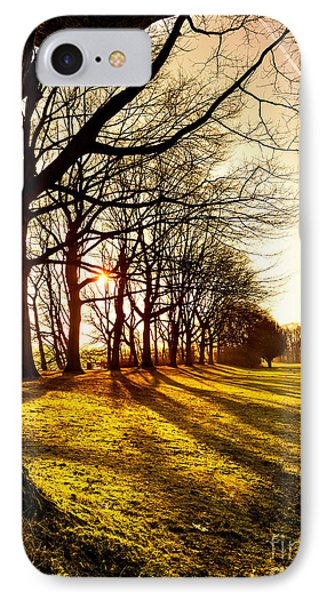 Sunset At The Park IPhone Case