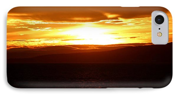 Sunset By The Fjord IPhone Case