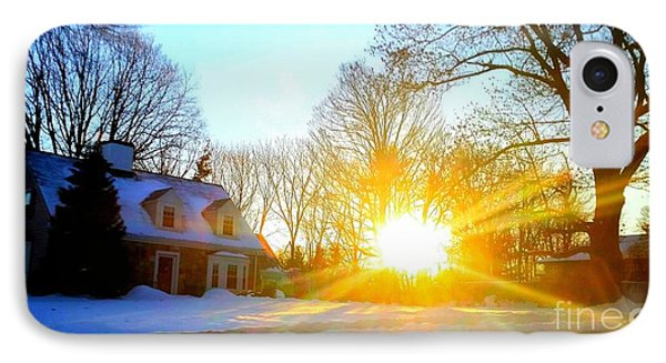 Snowy Sunset 2 IPhone Case