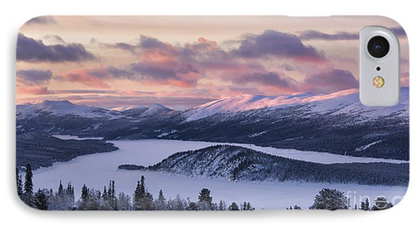 Sunset In Winter Mountains IPhone Case