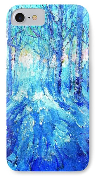 Sunset In A Winter Wood  IPhone Case