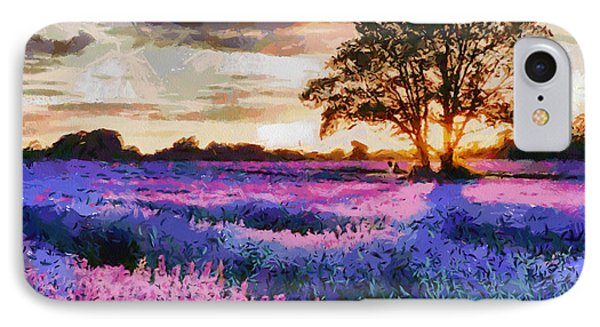 Sunset Lavender Field IPhone Case