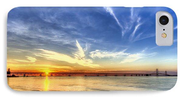 Sunset Mackinac Bridge IPhone Case