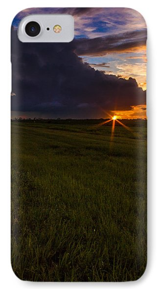 Sunset On Bridge Road IPhone Case