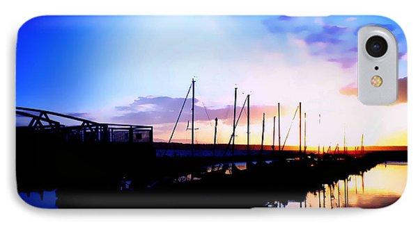 Sunset On Edmonds Washington Boat Marina IPhone Case