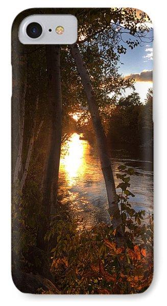 Sunset On Lake  IPhone Case